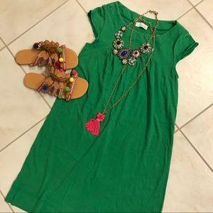 C&C California Green Jersey Shift Dress small